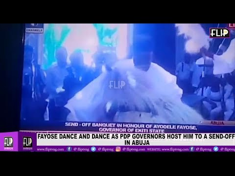 FAYOSE DANCE AND DANCE AS PDP GOVERNORS HOST HIM TO A SEND OFF