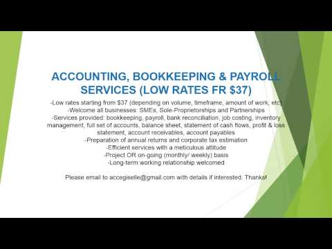 ACCOUNTING, BOOKKEEPING & PAYROLL SERVICES