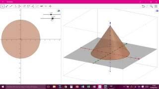 Construction d\'un cône avec Geogebra 3D