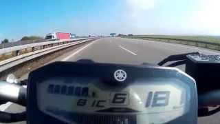 9. Yamaha MT-07 (FZ-07) - Top speed / velocidade máxima (Höchstgeschwindigkeit) HD