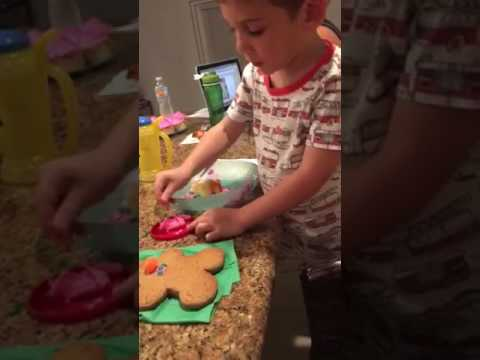 Funny Toddler Gingerbread Man Twizzler