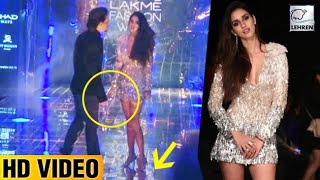 Tiger Shroff Saves Disha Patani from An OOPS Moment At LFW 2017 | LehrenTV