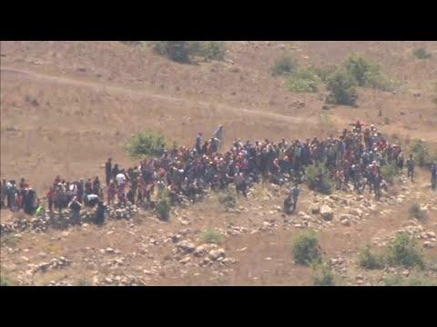 Suche nach Obdach: Syrische Flüchtlinge an israelischem Grenzzaun