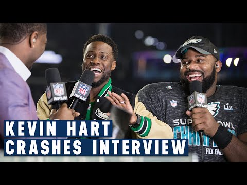 Fletcher Cox & Kevin Hart's Hilarious Post Super Bowl LII Interview | NFL GameDay Prime