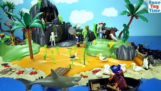 Hi kids, RaceToyTime here! Today, we are going to build and play with this Playmobil Pirates Adventure Island Playset or game set. We made a small sand beach with toy sea animals, like sharks, dolphins, turtle, sea lions, seals, and more to see in this video!  I hope you guys enjoy this video. Please be sure to subscribe to our channel if you haven't already, and like and share our videos. We have a lot of videos on our channel. Watch them all! We'll make more! Comment below if you like and as always, thanks for watching!Subscribe to racetoytime here - https://www.youtube.com/channel/UCVTQrl1dtafYX08IBb7EhrwWatch our other videos:  Learn Animal Toys Names │ Zoo Animals Elephant Lion Tiger Rhino for Kids - https://www.youtube.com/watch?v=KnsmONvQyeYLearning Sea Animals Toy Sharks Whales Dolphin - https://www.youtube.com/watch?v=9i88w4UqPnADinosaur Surprise Toys Game in the Claw Machine -  Learn Dinosaurs Names For Children - https://www.youtube.com/watch?v=H8AkVqFrxhoJurassic World Mini Dinosaurs Figures Blind Bag Exclusive Indominus Rex  - https://www.youtube.com/watch?v=_bgyS74lUR8Playmobil City Zoo Toy Wild Animals Building Set Build Review - https://www.youtube.com/watch?v=g5dbYcmUHZ8Playmobil City Life Large Zoo Toy Wild Animals Building Set Build Review - https://www.youtube.com/watch?v=IZXfiFPyW8EDinosaurs 3D Puzzles Animals Eggs Surprise Toys - Spinosaurus Ankylosaurus Pteranodon - https://www.youtube.com/watch?v=VJuukvLmpSgDinosaur Transforming Eggs Toys - Tyrannosaurus Rex Pterodactyl Velociraptor Triceratops - https://youtu.be/HT_CFeMP9GkToy Wild Animals 3D Puzzles Collection - Lion Panda Elephant Zebra Tortoise │ Animals for children - https://youtu.be/yabb98z1WC8Playmobil Toy Wild Zoo Animals Collection For Kids - Tiger Panda Koala Gorilla - https://youtu.be/L06I3WiWjNsPLAYMOBIL Country Farm Animals Pen and Hen House Building Set Build Review  - https://www.youtube.com/watch?v=dGplrNa-NZkPLAYMOBIL Toy Wild Zoo Animals Collection For Kids - Tiger Panda Ko