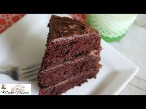 Шоколадный миндальный листовой торт - DomaVideo.Ru