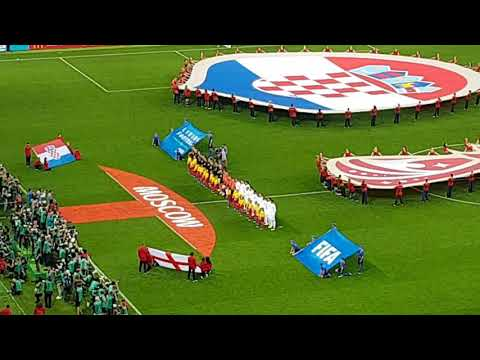 England Vs. Croatia National anthems semifinals. World Cup 2018. Moscow 11th July 2018