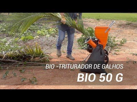 Triturador de galhos e resíduos orgânicos moendo galhos e restos de comida - Lippel BIO 50 G