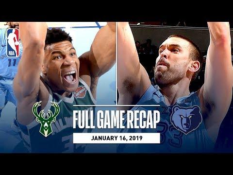 Video: Full Game Recap: Bucks vs Grizzlies | Giannis Goes For 27 Points In Memphis