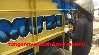 Download Video Tangannya udah kaya mesin !! Seni lukis airbrush Bak Truk dan variasi MP3 3GP MP4