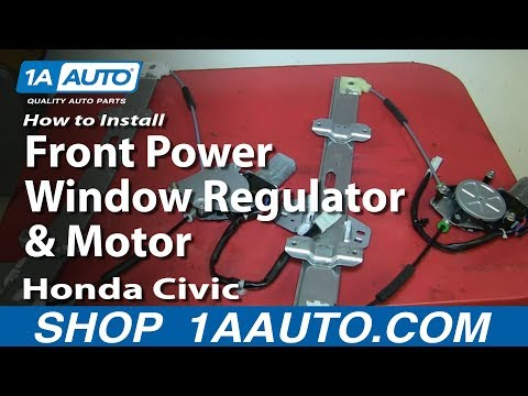 How To Install Replace Front Power Window Regulator and Motor 1996-00 Honda Civic