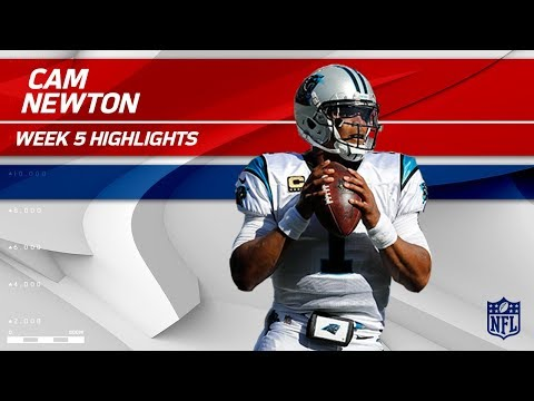 Video: Cam Newton Highlights | Panthers vs. Lions | Wk 5 Player Highlights