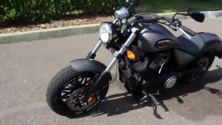7. 2015 Victory Gunner Motorcycle Walk Around and Idle Review