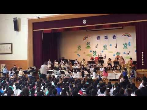 軽井沢中部小学校吹奏楽部 H27 校内音楽会 BONJOVI RockMix