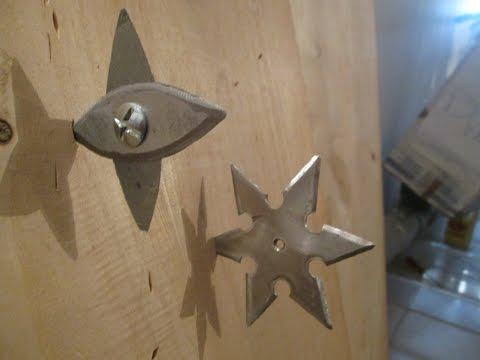 Как сделать сюрикен в домашних условиях из металла