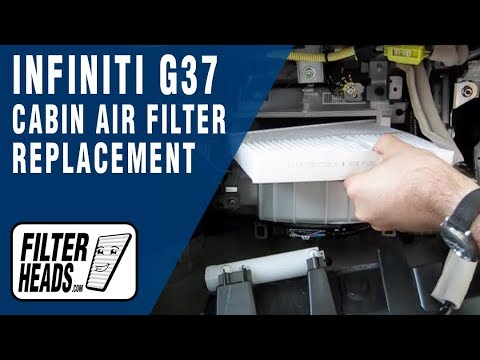 Cabin air filter replacement- Infiniti G37
