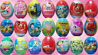 100 Surprise Eggs peppa pig - play doh,sponjebob and more surprise eggs