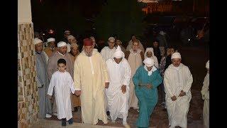 لحظة إستقبال مريدو الطريق الصوفية العلوية