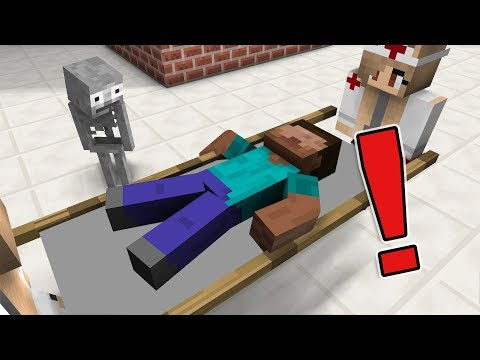 Monster School : The Teacher Got Sick - Minecraft Animation