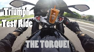 7. 2013 Triumph Daytona 675 Test Ride