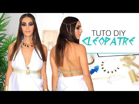 Tuto Halloween DIY Costume Cléopâtre : Robe sans couture et Accessoires