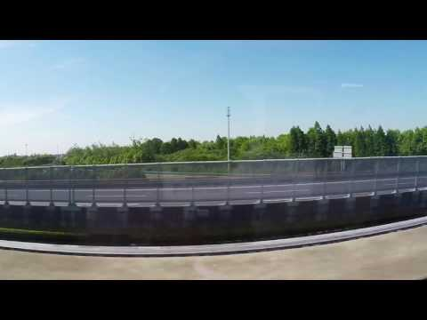 Two Maglev trains passing each other
