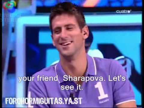 spanish tv - funny Nole in tv show speaking spanish, singing...