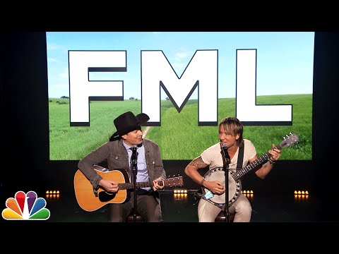 Keith Urban and Jimmy Fallon Sing Real F My Life