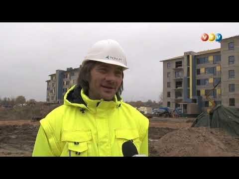 Turpinās darbi pie daudzdzīvokļu īres namiem Valmierā