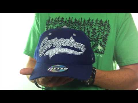Georgetown 'SWOOP LACROSSE' Navy Fitted Hat by Zephyr