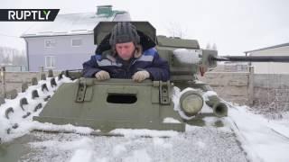 Белорусский умелец собрал в своем гараже танк Т-60