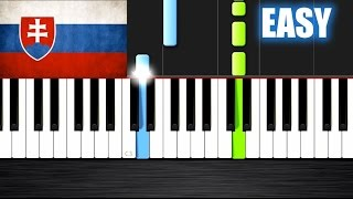 "National Anthem of Slovakia - ""Nad Tatrou sa blýska"" - EASY Piano Tutorial  Ноты и М�Д� (MIDI) можем"