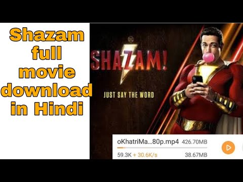 (100% real) how to download shazam movie in hindi.//tk tech helper//