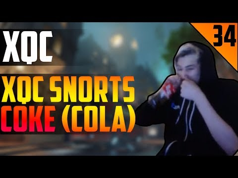 xQc SNORTS COKE (COLA) - STREAM HIGHLIGHTS #34   xQcOW