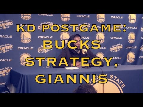 Entire KD (KEVIN DURANT) postgame: Bucks' strategy of