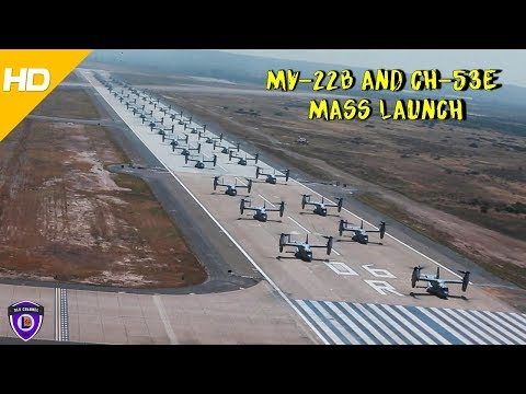 Twenty four MV-22B Ospreys and...