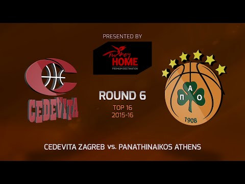 Highlights: Top 16, Round 6, Cedevita Zagreb 60-78 Panathinaikos Athens