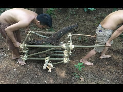 Primitive Survival Skills: Primitive Technology Wooden Car