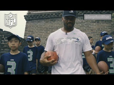 Video: Russell Wilson Runs the Great Wall of China | NFL