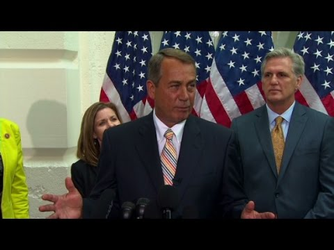 white - House Speaker Boehner says the GOP has no plans to impeach Obama and the rumors are an election stunt by Democrats.