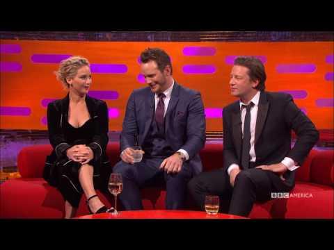 Jennifer Lawrence, Chris Pratt & Jamie Oliver Share High School Photos - The Graham Norton Show