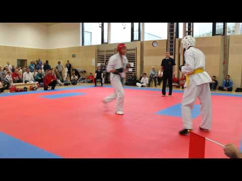 1.Weinviertler Kumite Turnier - Kevin Omerovic vs. Theo Skarnes (видео)