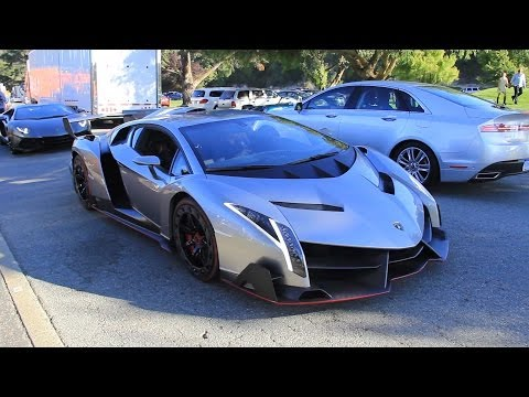 The $4.5 Million Lamborghini Veneno driving in California