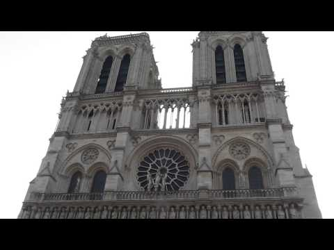 Notre Dame - New Bells from Western Facade (Easter 2013)
