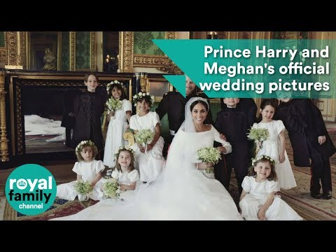 Prince Harry and Meghan Markle's official wedding pictures as Duke and Duchess of Sussex (видео)