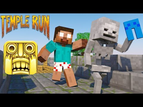 Monster School : Temple Run - Granny Challenge - Minecraft Animation