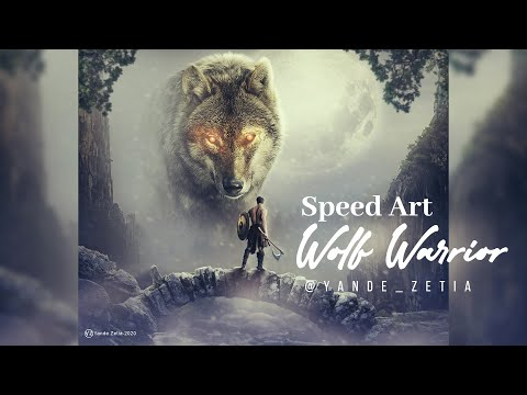 SPEED ART PHOTOSHOP | WOLF WARRIOR