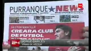 Héctor Mancilla en su pueblo