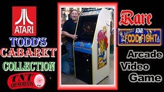 #1457 Rare Atari FOOD FIGHT Cabaret Size Arcade Video Game-PLAYBOY Pinball=TNT Amusements