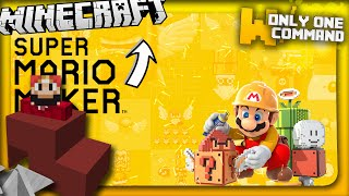 Super Mario Maker in vanilla Minecraft with only two command blocks (1.9 command)